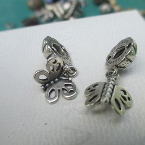 Pandora 790531 Best Friends Butterfly 2 charms